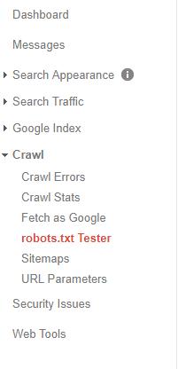 نمایش صفحات محدود شده در گوگل وب مستر