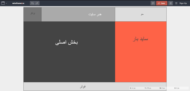 طرح اسکچ در طراحی قالب سایت